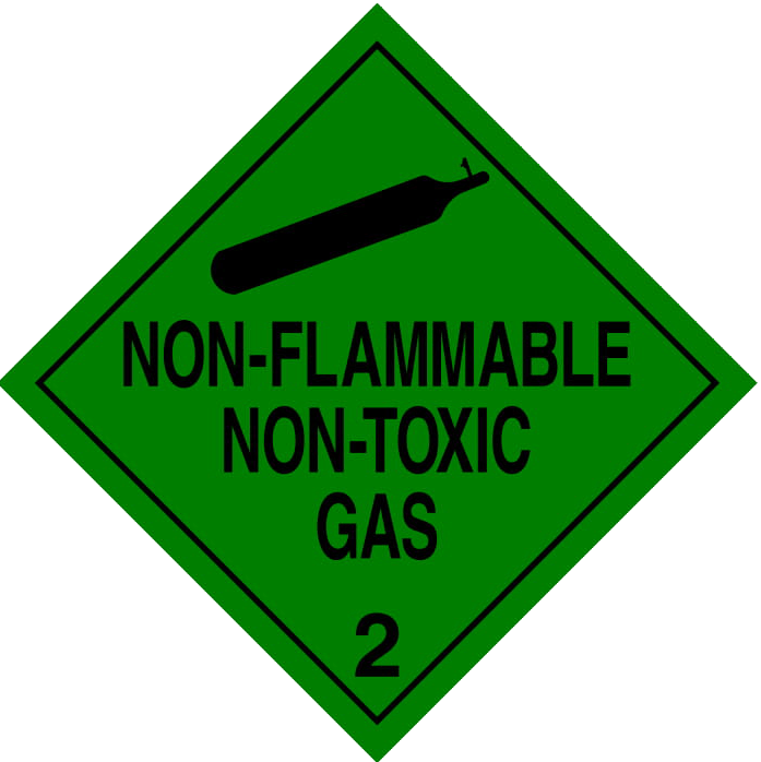 Non-toxic & non-flammable gas