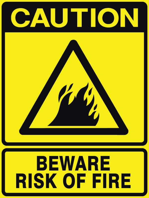 CB-1 Beware Risk of Fire