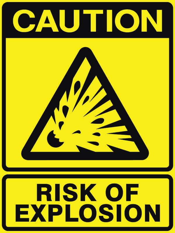CB-3 Risk of Explosion