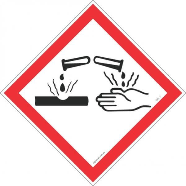 CORROSIVE GHS-C-Shop-Hazchem-Diamond-Signs-Signsmart