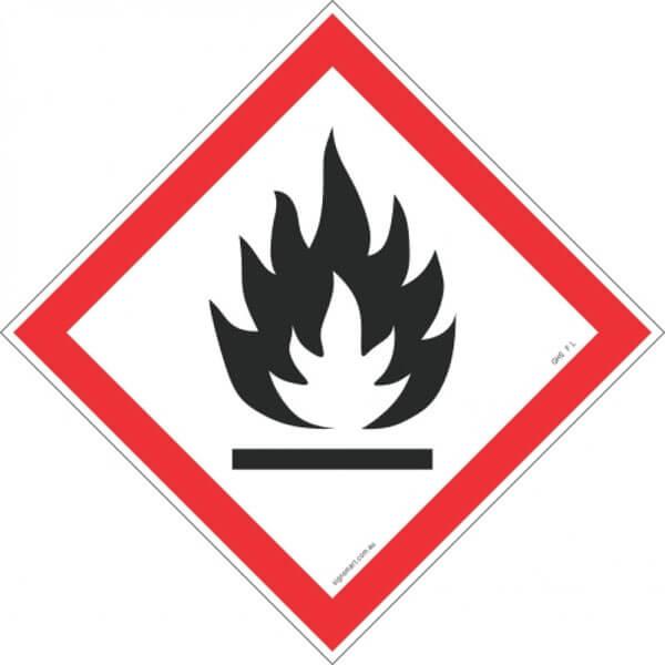 FLAME GHS F-L-shop-hazchem-signs