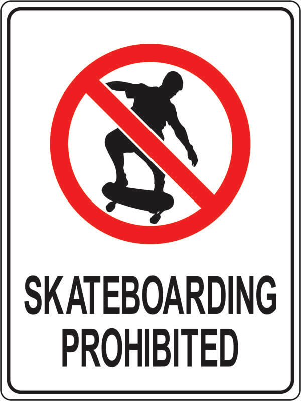 PS-1 skateboarding-prohibited