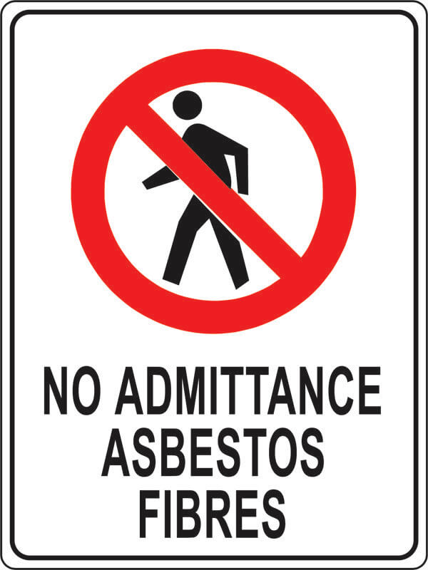 PS-1 no-admittance-asbestos-fibres