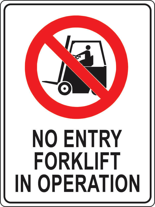 PS-1 no-entry-forklift-in-operation