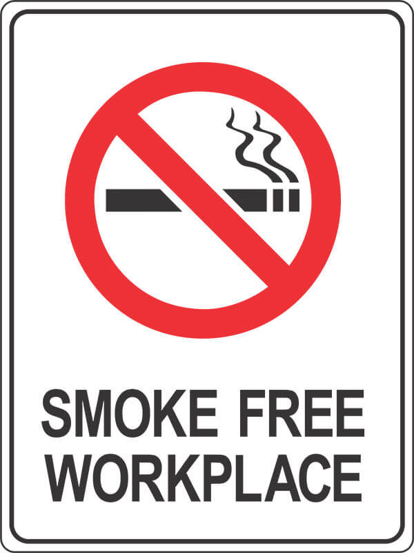 PS21 SMOKE FREE WORKPLACE - signsmart - signs