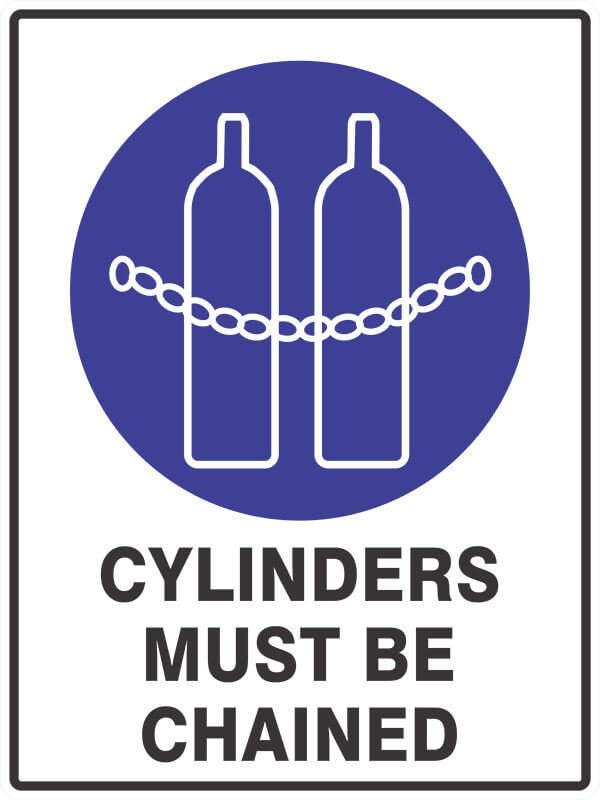 SM13 CYLINDERS-must-be-chained- signsmart - signs