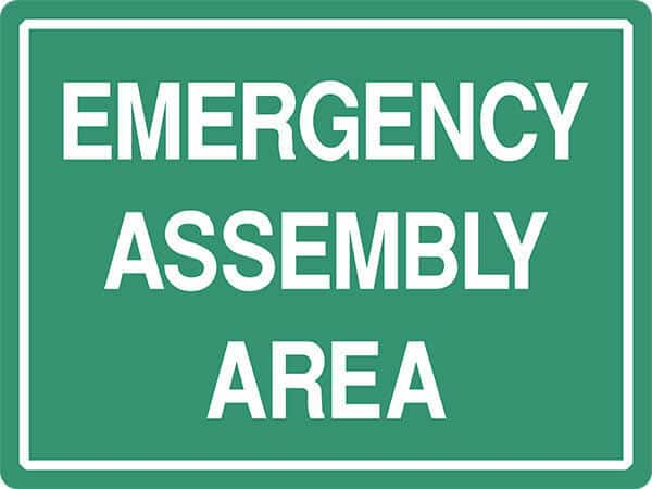 SS10 EMERGENCY ASSEMBLY AREA -signsmart - signs