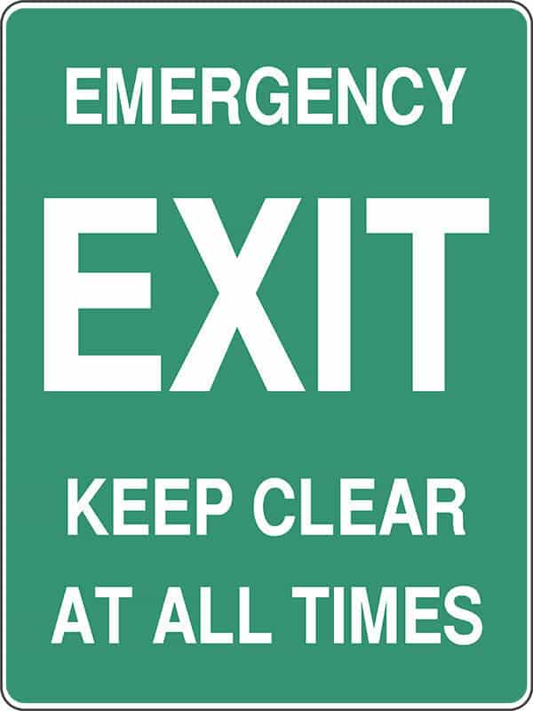 SS12 EMERGENCY EXIT - signsmart - signs