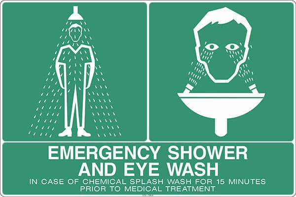 SS3 4 EMERGENCY SHOWER AND EYE WASH - signsmart - signs