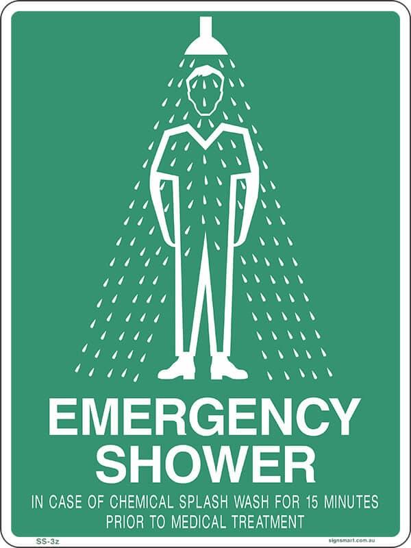 SS3A EMERGENCY SHOWER 15 MINS - signsmart - signs