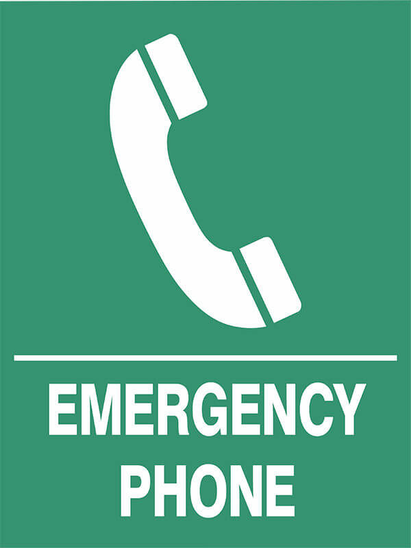 SS6 EMERGENCY PHONE - signsmart - signs