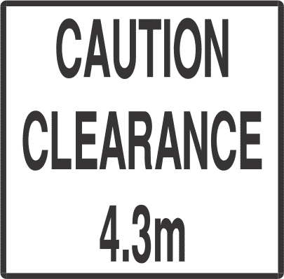 CC4.3 - signsmart -caution-clearance-signs