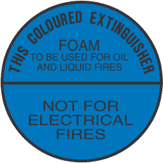ELS2 BLUE CIRCLE - signsmart-this-coloured-extinguisher-foam-signs