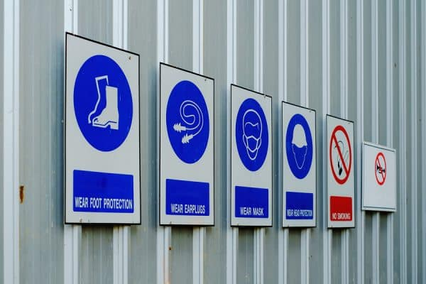 dangerous goods sign and labels