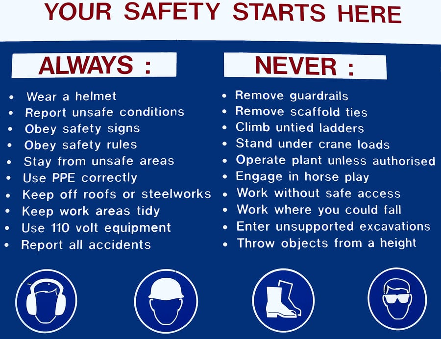 safety signs in the workplace