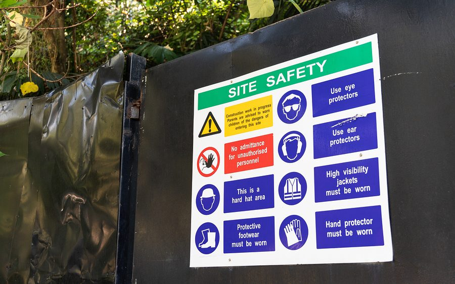 Site safety sign construction