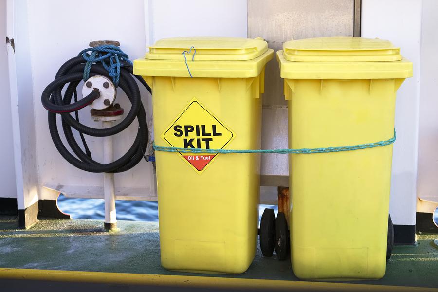 hazchem sign spill bin