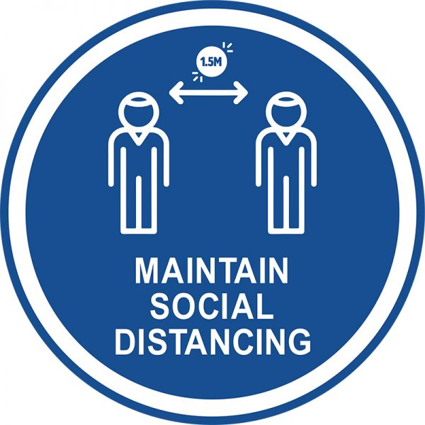 covid-floor-disc-maintain-social-distancing