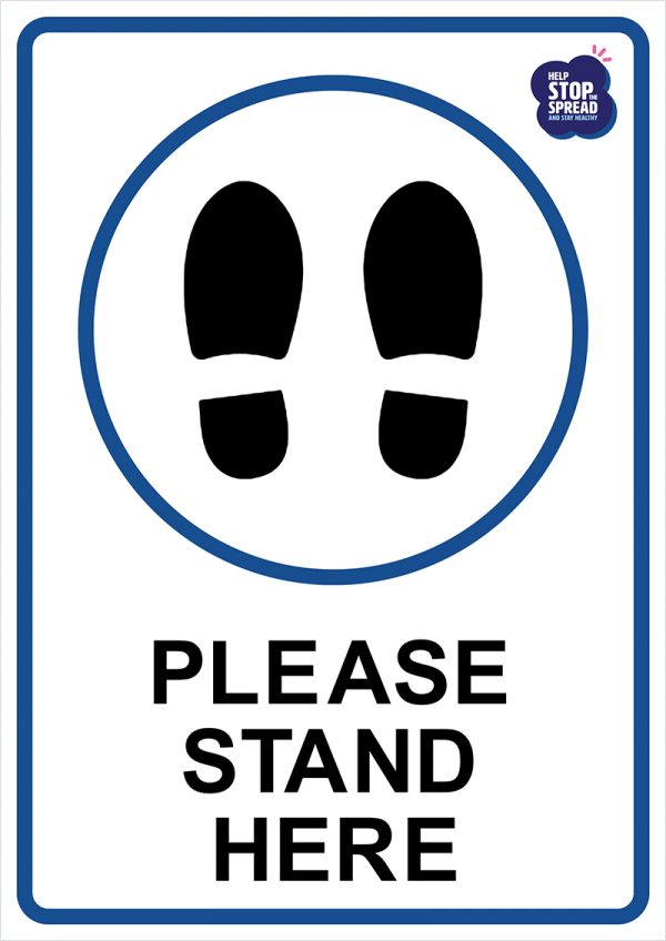 covid-please-stand-here