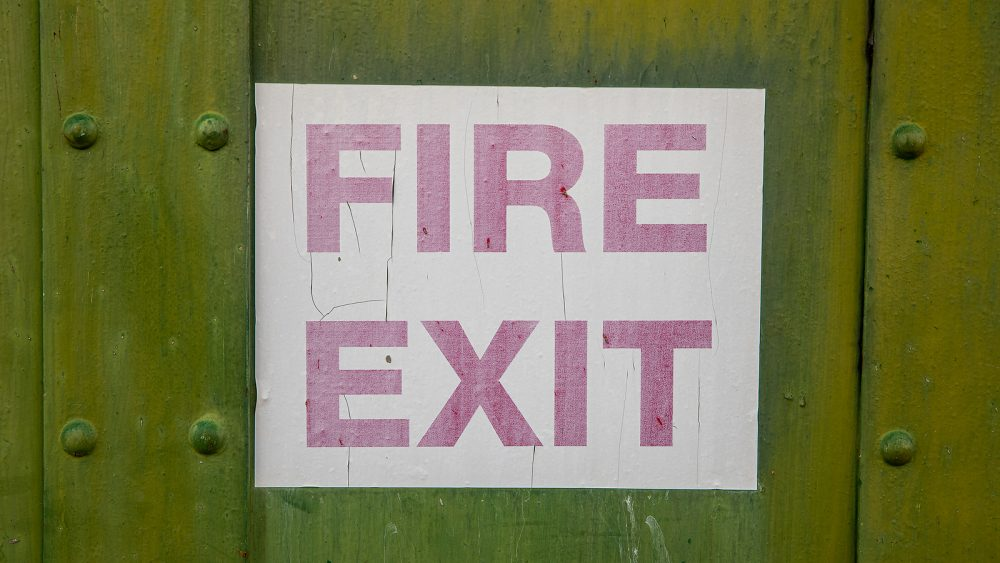 workplace safety sign fire exit sign